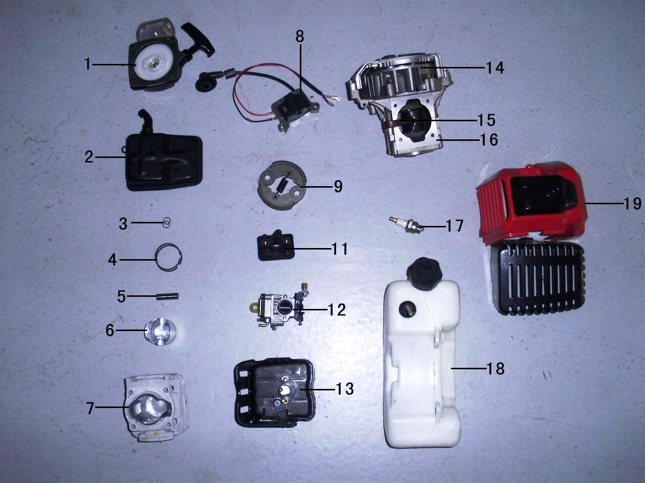 2 stroke engine parts